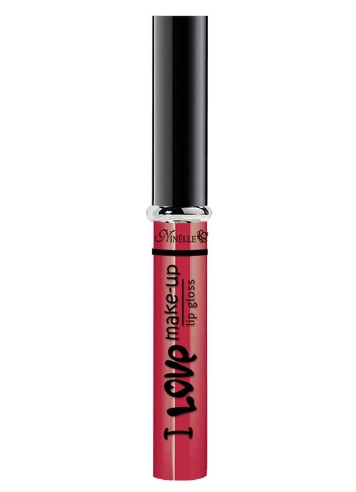 Блеск для губ I Love Make-Up тон 04 АлыйБлеск для губ<br>Блеск для губ с нежной комфортной текстурой и легким женственным ароматом.<br>Цвет: Алый;