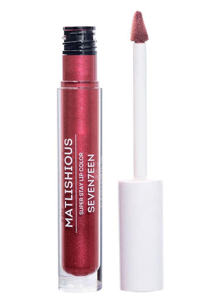 Купить Помада-блеск для губ жидкая Бордовый с искрой SEVENTEEN, MATLISHIOUS SUPER STAY LIP COLOR, Греция