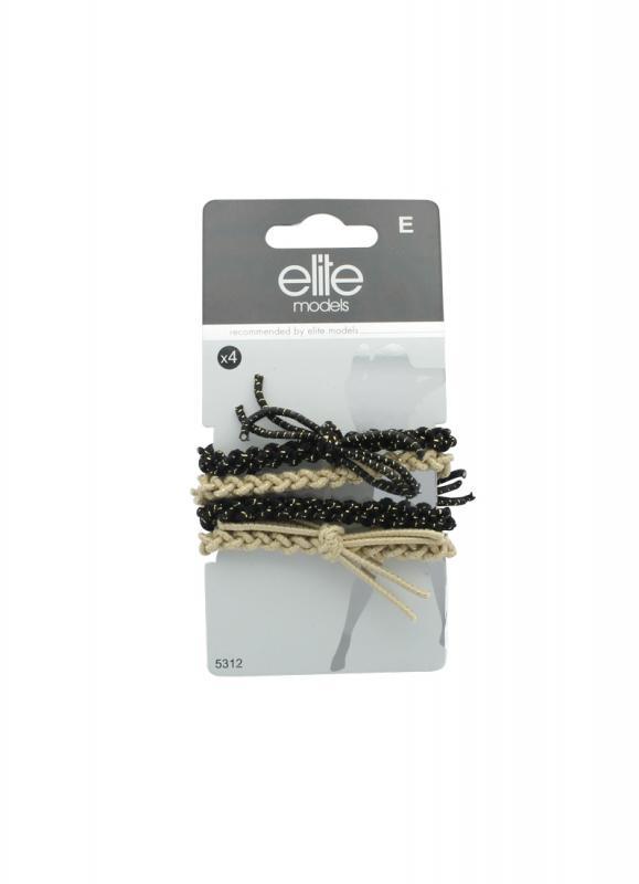 Набор средних резинок для волосРезинки для волос<br>Резинки станут идеальным вариантом для нормальных и густых волос.Эти большие резинки из мягкой ткани не повреждают волосы и особенно адаптированы к прическе конский хвост.<br>