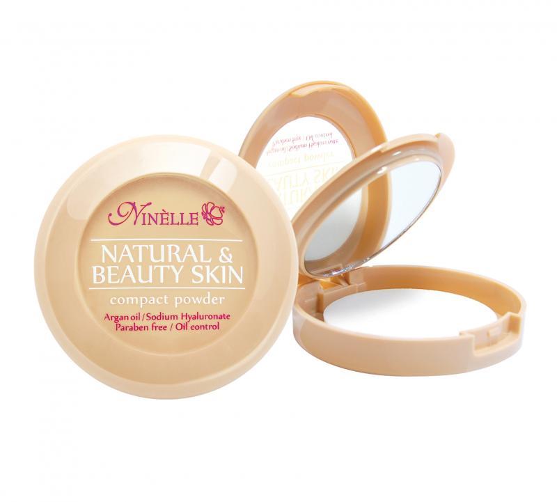 Пудра компактная Natural &amp; Beauty Skin тон 32 БежевыйПудра<br>Невероятная стойкость в течение 8 часов! Устойчивая компактная пудра Natural&amp;Beauty Skin обладает нежной, шелковистой текстурой и ложится на лицо, словно вторая кожа. Пудра идеально выравнивает тон и текстуру кожи, скрывает недостатки, абсорбирует излишки жира. Теперь Вы можете быть уверены: Ваш макияж останется безупречным при любых испытаниях!<br>Цвет: Бежевый;