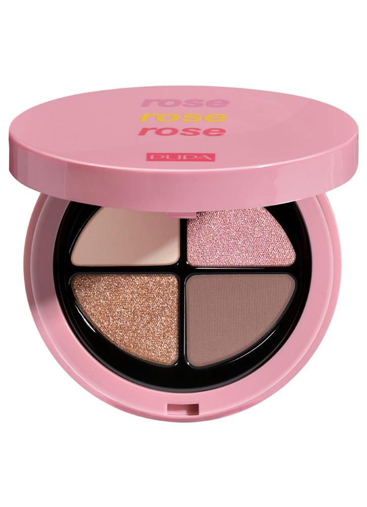 Палетка теней для век Розовый PUPA розового цвета