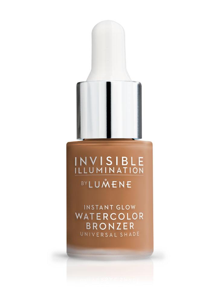 Ухаживающий бронзер-флюид Invisible Illumination Watercolor Bronzer 15 млБронзаторы<br>Невесомое средство для естественного конутрирования, в состав которого входят свежая арктическая родниковая вода, богатая антиоксидантами морошка, активизирующие пептиды и перламутровые подсвечивающие пигменты. Делает цвет лица равномерным и сияющим.<br>