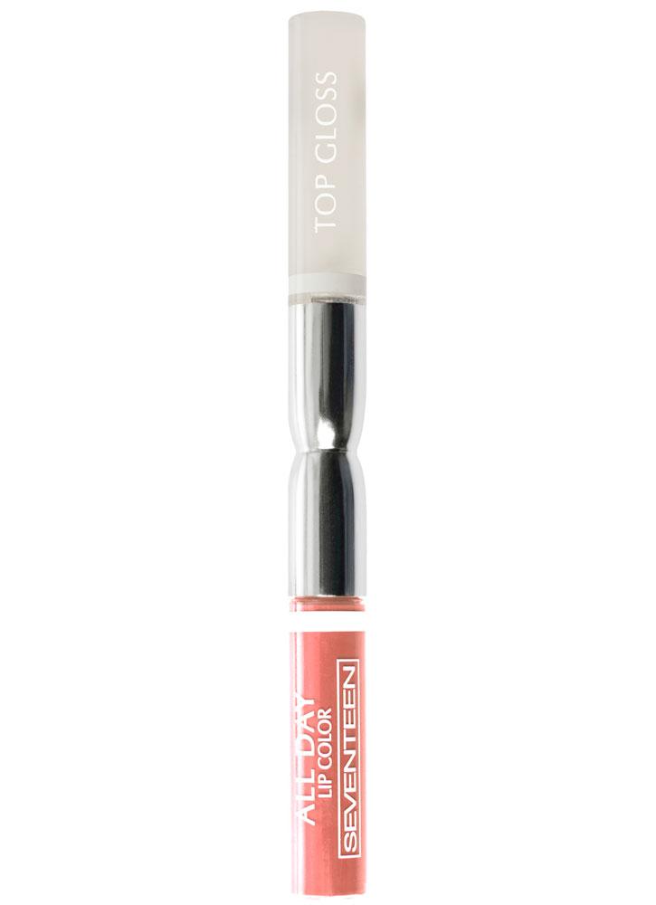Помада-блеск для губ жидкая стойкая All Day Lip Color &amp;Top Gloss тон 19Блеск для губ<br>Устойчивая жидкая помада и гель-фиксатор. Точное нанесение и быстрая фиксация.Цвет, который остается на губах весь день!<br>Объем мл: 3.53.5; Цвет: Пастельный абрикос;