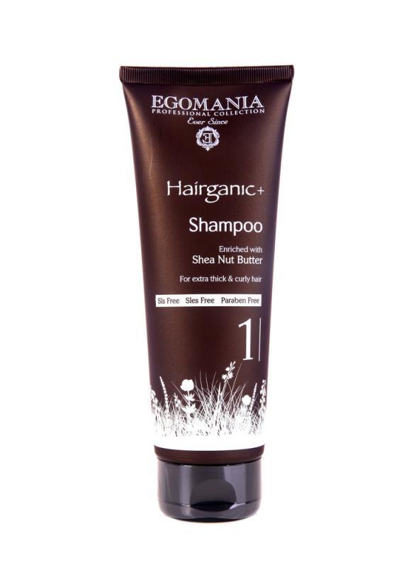 Шампунь с маслом ши для густых, вьющихся волос 250 млШампуни<br>Шампунь на основе масла ши подходит для густых, пористых, вьющихся и травмированных волос. Этот продукт разработан для сложной структуры волос, где нарушены десульфидные связи. Масло ши оживляет волосы, влияет на их внутреннюю структуру, делает их более эластичными, плотными, живыми и блестящими. После использования продукта густые, вьющиеся волосы становятся более послушными, завитки и локоны приобретают целостную структуру.<br>
