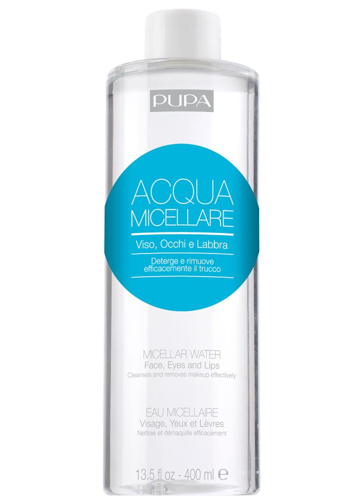 Вода мицеллярная PUPAМицеллярная вода<br>-Новая мицеллярная вода от PUPA идеально удаляет макияж с губ, глаз и лица. Имеет мягкую формулу и успокаивающий эффект.<br>Объем мл: 400;