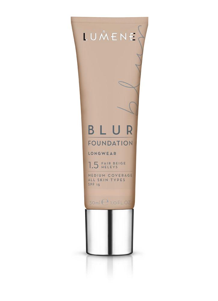 Тональный крем преображающий BLUR SPF 15 тон 1,5 БежевыйТональное средство<br>Стойкий тональный крем мгновенно преобразит Вашу кожу, оставляя ее ровной, сияющей и отдохнувшей.&amp;nbsp;&amp;nbsp;Тональный крем не перегружает кожу, при этом создает эффект фотошопа.<br>Цвет: Бежевый;