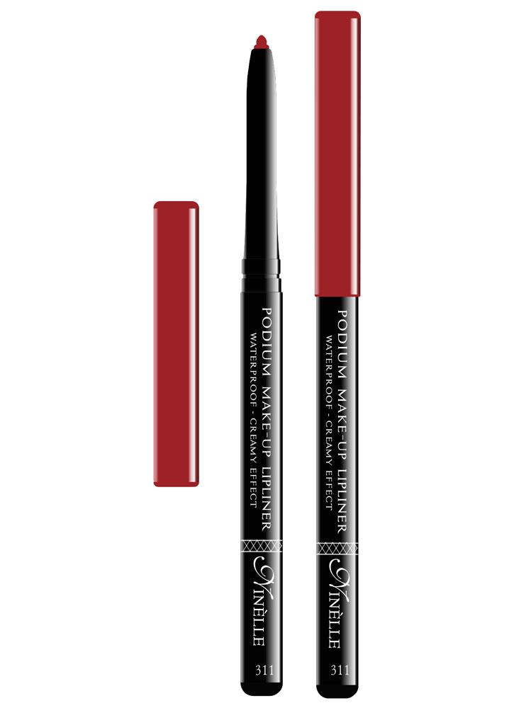Карандаш для губ водостойкий Podium Make-Up тон 311Карандаш для губ<br>-Водостойкий карандаш для губ поможет Вам очертить четкий контур губ, чтобы увеличить стойкость помады или блеска для губ.<br>Вес ГР: 0,35; Цвет: Темно-красный;