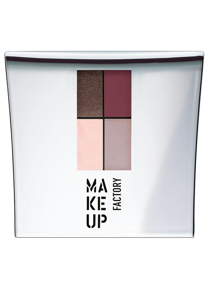 Тени для век Коричневый/бордо/бежевый/нежный розовый MAKE UP FACTORY Eye Colors фото