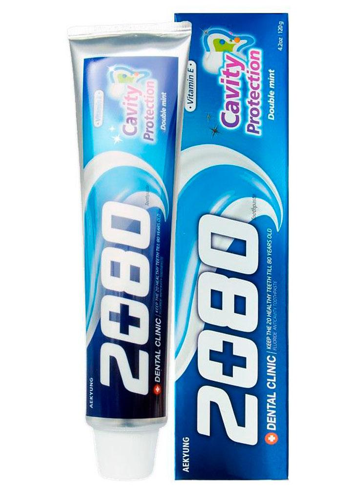 Зубная паста натуральная мята DENTAL CLINIC 2080 Cavity Protection фото