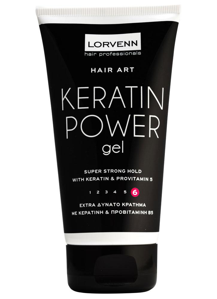 Гель сверхсильной длительной фиксации Keratin Power Gel 150 млГель<br>Гель сверхсильной фиксации идеально подходит для создания гладких причесок, придает волосам шелковистость и дополнительный блеск.<br>