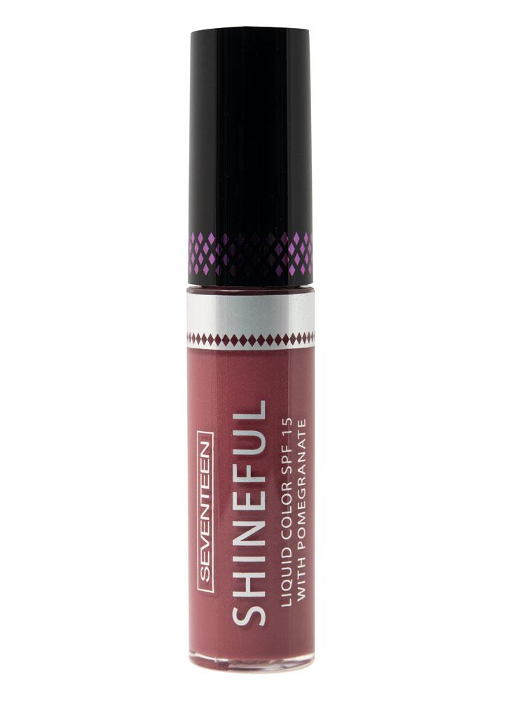 Помада-блеск жидкая с глянцевым эффектом Темный пурпурно-розовый SEVENTEEN Shineful Liquid Color SPF 15 фото