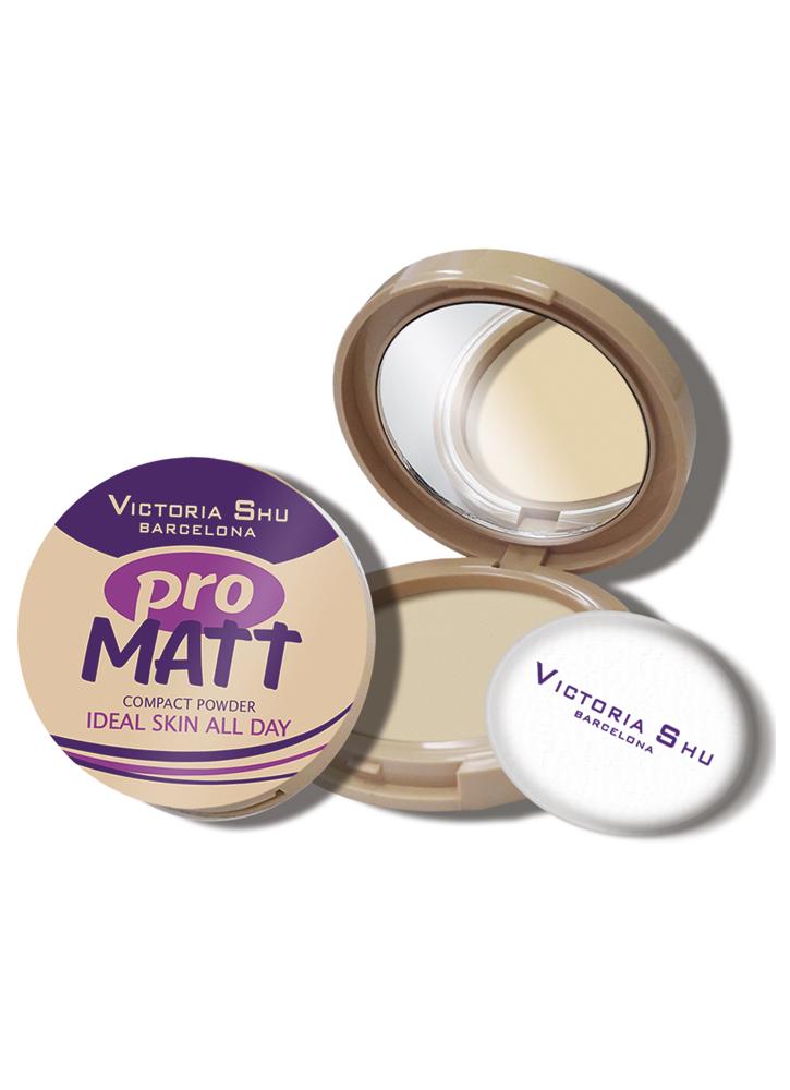 Пудра компактная Pro Matt тон 421 ПастельныйПудра<br>Матирующая пудра для нежной и бархатистой кожи.<br>Цвет: Пастельный;