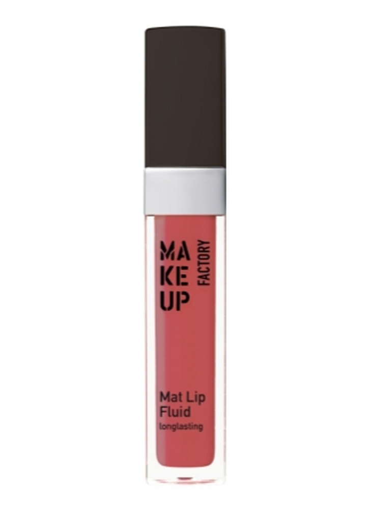 MAKE UP FACTORY Помада-блеск для губ матовая стойкая Mat Lip Fluid longlasting тон 65 нежная малина