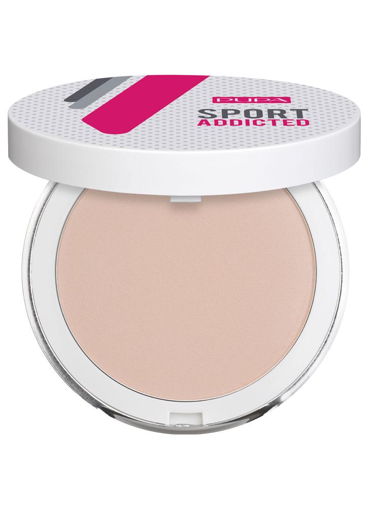 Пудра для лица водостойкая компактная Sport Addicted Powder тон 002Пудра<br>-<br>Цвет: Розовый беж;