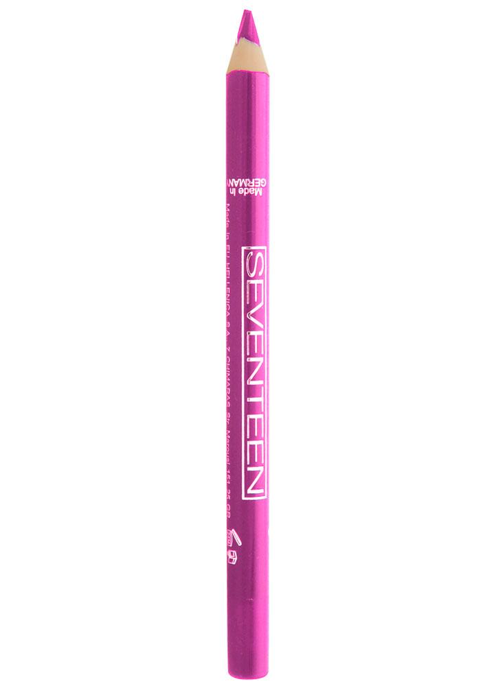 Карандаш для губ водостойкий Модный розовый SEVENTEENКарандаш для губ<br>Мягкий карандаш для губ в пластиковом корпусе. Устойчивый результат.<br>Вес гр: 1,2; Цвет: Модный розовый; RGB: 214,75,162;