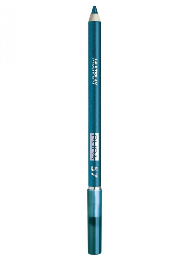 Карандаш для глаз с аппликатором Multiplay Eye Pencil тон 57 Бензиновый синийКарандаш для глаз<br>Контурный карандаш тройного действия подходит для создания линий по внешнему и по внутреннему веку, а также для карандашных растушевок. Наличие скошенного аппликатора на обратной стороне карандаша позволяет качественно растушевать линию и трансформировать ее в мягкие тени. Грифель карандаша заключен в пластиковый патрон. Текстура продукта пластичная, легко ложится и не царапает веко.<br>Цвет: Бензиновый синий;