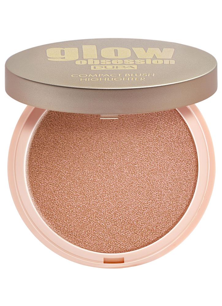 Румяна для лица сияющие Персик PUPA Glow Obsession Compact Blush Highlighter фото