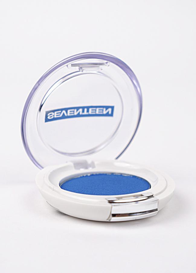 SEVENTEEN Тени для век компактные сатиновые Silky Shadow Satin тон 220 Ярко-голубой