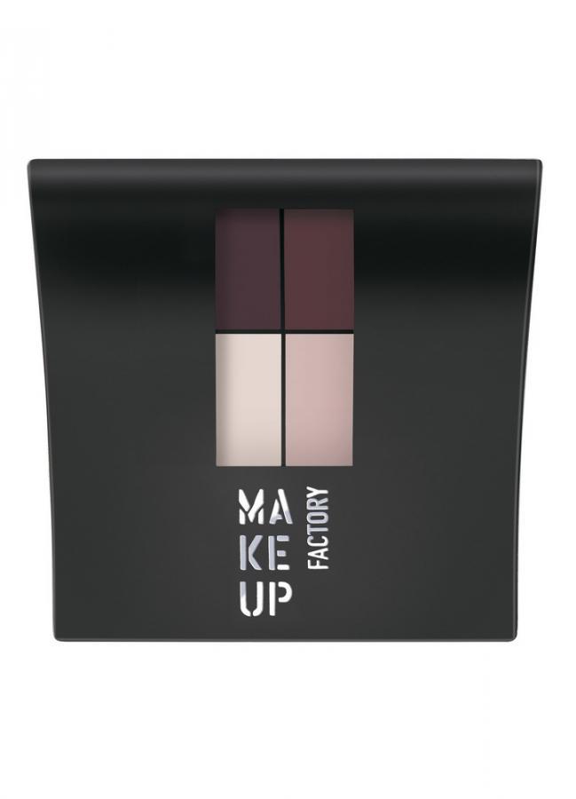 Тени для век четырехцветные матовые Mat Eye Colors тон 560 баклаж/темный баклажан/светло-розовый/розово-бежевыйТени для век<br>Матовые тени Eye Colors представляет собой комплект из четырех согласованных оттенков. Невероятно мягкая текстура теней обеспечивает легкое нанесение, отличную растушевку, а гамма оттенков идеально подходит для любого вида макияжа.Практичную&amp;nbsp;&amp;nbsp;удобную&amp;nbsp;&amp;nbsp;упаковку с зеркалом и аппликатором всегда удобно взять с собой.<br>Цвет: баклаж/темный баклажан/светло-розовый/розово-бежевый;