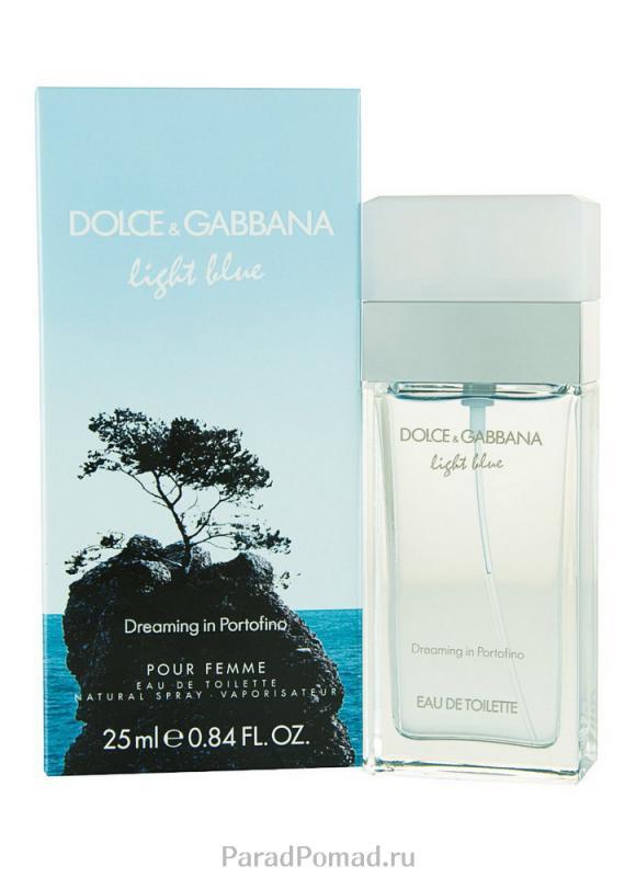 Туалетная вода Light Blue Portofino муж. 25 млТуалетная вода<br>Dolce &amp; Gabbana Light Blue Dreaming in Portofino — нежный и очень легкий аромат, напоминающий романтическое путешествие со своей второй половинкой. Свежесть аромата освежает в летний день во время прогулок морским бризом. Прохлада, которая исходит от аромата, переносит свою обладательницу к берегу Средиземного моря, даря ей незабываемые эмоции. Гармония сочетания амбретты и личи с амброй и мускусом дает неповторимый аромат, который дополняет ирис.<br>