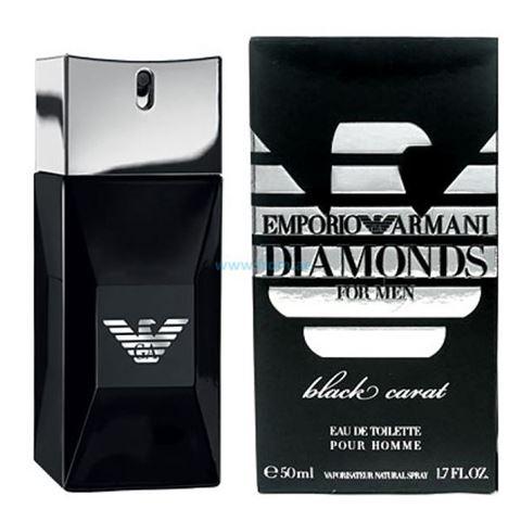 Туалетная вода Diamonds He Black Carat муж. 50 млТуалетная вода<br>Аромат Armani Emporio Diamonds Black Carat for Him были выпущены в 2012 году. Относятся к типу ароматов древесно-пряные. Над созданием аромата работал парфюмер: Jacques Cavallier. Итальянская марка Giorgio Armani представила покупателям ароматную пару Diamonds Black Carat. Это обновленная, более загадочная и глубокая версия парфюмов Emporio Armani Diamonds for men, выпущенного в 2008 году. Парфюм упакован в стильный ограненный флакон черного цвета с логотипом марки. Парфюмерная композиция включает: китайский перец сичуан, кокос, бергамот и ветивер.<br>